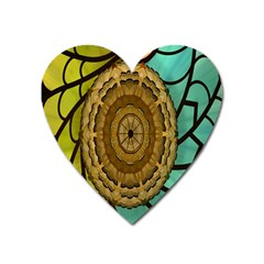 Kaleidoscope Dream Illusion Heart Magnet by Amaryn4rt