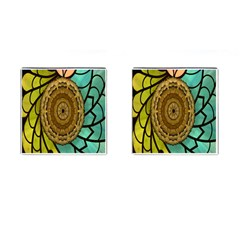 Kaleidoscope Dream Illusion Cufflinks (square) by Amaryn4rt