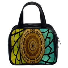Kaleidoscope Dream Illusion Classic Handbags (2 Sides) by Amaryn4rt