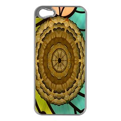 Kaleidoscope Dream Illusion Apple Iphone 5 Case (silver) by Amaryn4rt