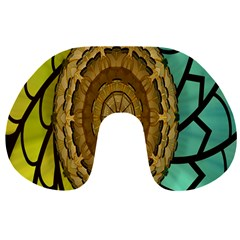 Kaleidoscope Dream Illusion Travel Neck Pillows by Amaryn4rt