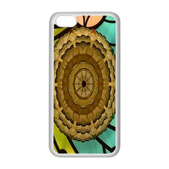 Kaleidoscope Dream Illusion Apple Iphone 5c Seamless Case (white) by Amaryn4rt