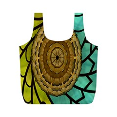 Kaleidoscope Dream Illusion Full Print Recycle Bags (m)  by Amaryn4rt