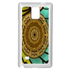 Kaleidoscope Dream Illusion Samsung Galaxy Note 4 Case (white) by Amaryn4rt