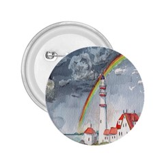 Watercolour Lighthouse Rainbow 2 25  Buttons by Amaryn4rt