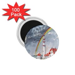 Watercolour Lighthouse Rainbow 1 75  Magnets (100 Pack)  by Amaryn4rt