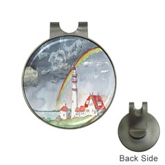 Watercolour Lighthouse Rainbow Hat Clips With Golf Markers by Amaryn4rt