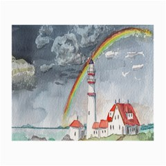 Watercolour Lighthouse Rainbow Small Glasses Cloth (2 Side)