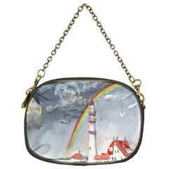 Watercolour Lighthouse Rainbow Chain Purses (one Side)  by Amaryn4rt