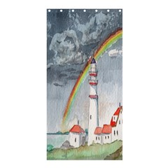 Watercolour Lighthouse Rainbow Shower Curtain 36  X 72  (stall)  by Amaryn4rt