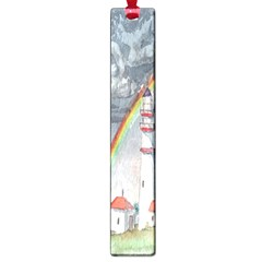 Watercolour Lighthouse Rainbow Large Book Marks by Amaryn4rt