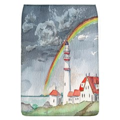 Watercolour Lighthouse Rainbow Flap Covers (l)  by Amaryn4rt