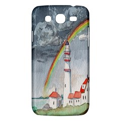 Watercolour Lighthouse Rainbow Samsung Galaxy Mega 5 8 I9152 Hardshell Case  by Amaryn4rt