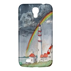 Watercolour Lighthouse Rainbow Samsung Galaxy Mega 6 3  I9200 Hardshell Case by Amaryn4rt