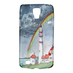 Watercolour Lighthouse Rainbow Galaxy S4 Active by Amaryn4rt