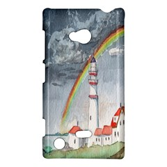 Watercolour Lighthouse Rainbow Nokia Lumia 720 by Amaryn4rt