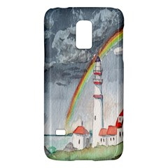 Watercolour Lighthouse Rainbow Galaxy S5 Mini by Amaryn4rt