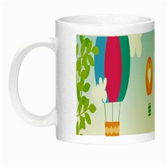 Landscape Sky Rainbow Garden Night Luminous Mugs by Amaryn4rt