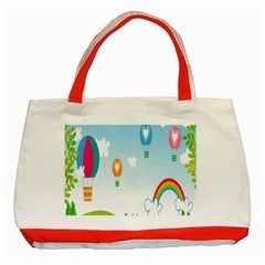 Landscape Sky Rainbow Garden Classic Tote Bag (red) by Amaryn4rt
