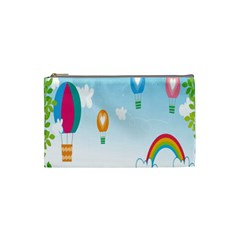 Landscape Sky Rainbow Garden Cosmetic Bag (small)  by Amaryn4rt