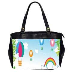 Landscape Sky Rainbow Garden Office Handbags (2 Sides)  by Amaryn4rt