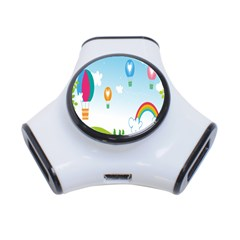 Landscape Sky Rainbow Garden 3 Port Usb Hub by Amaryn4rt