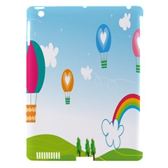 Landscape Sky Rainbow Garden Apple Ipad 3/4 Hardshell Case (compatible With Smart Cover) by Amaryn4rt