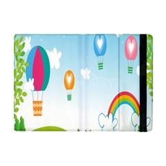 Landscape Sky Rainbow Garden Apple Ipad Mini Flip Case by Amaryn4rt