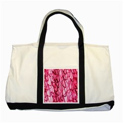 An Unusual Background Photo Of Black Swirls On Pink And Magenta Two Tone Tote Bag by Amaryn4rt