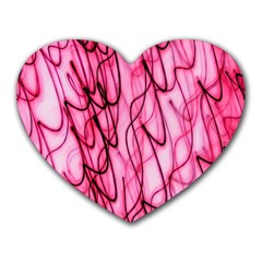 An Unusual Background Photo Of Black Swirls On Pink And Magenta Heart Mousepads by Amaryn4rt