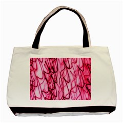 An Unusual Background Photo Of Black Swirls On Pink And Magenta Basic Tote Bag (two Sides) by Amaryn4rt