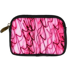 An Unusual Background Photo Of Black Swirls On Pink And Magenta Digital Camera Cases by Amaryn4rt