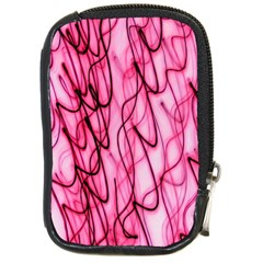 An Unusual Background Photo Of Black Swirls On Pink And Magenta Compact Camera Cases by Amaryn4rt