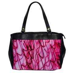 An Unusual Background Photo Of Black Swirls On Pink And Magenta Office Handbags by Amaryn4rt