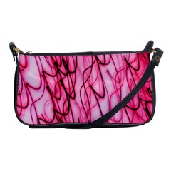 An Unusual Background Photo Of Black Swirls On Pink And Magenta Shoulder Clutch Bags by Amaryn4rt