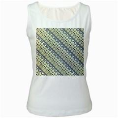 Abstract Seamless Pattern Women s White Tank Top