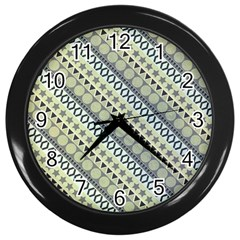 Abstract Seamless Pattern Wall Clocks (black) by Amaryn4rt