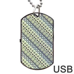 Abstract Seamless Pattern Dog Tag Usb Flash (two Sides) by Amaryn4rt