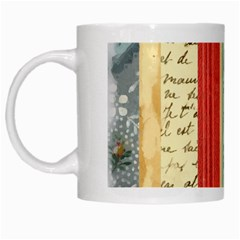 Digitally Created Collage Pattern Made Up Of Patterned Stripes White Mugs by Amaryn4rt