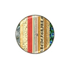 Digitally Created Collage Pattern Made Up Of Patterned Stripes Hat Clip Ball Marker (4 Pack) by Amaryn4rt