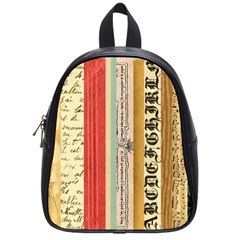 Digitally Created Collage Pattern Made Up Of Patterned Stripes School Bags (small)  by Amaryn4rt