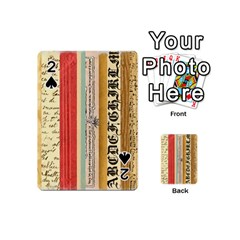 Digitally Created Collage Pattern Made Up Of Patterned Stripes Playing Cards 54 (mini)  by Amaryn4rt