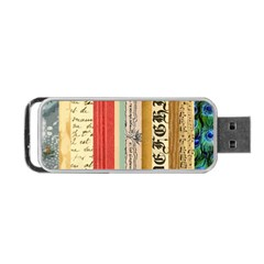 Digitally Created Collage Pattern Made Up Of Patterned Stripes Portable Usb Flash (two Sides) by Amaryn4rt