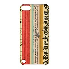 Digitally Created Collage Pattern Made Up Of Patterned Stripes Apple Ipod Touch 5 Hardshell Case With Stand by Amaryn4rt