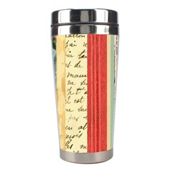 Digitally Created Collage Pattern Made Up Of Patterned Stripes Stainless Steel Travel Tumblers by Amaryn4rt
