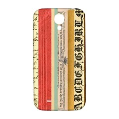 Digitally Created Collage Pattern Made Up Of Patterned Stripes Samsung Galaxy S4 I9500/i9505  Hardshell Back Case by Amaryn4rt