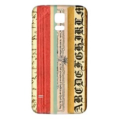 Digitally Created Collage Pattern Made Up Of Patterned Stripes Samsung Galaxy S5 Back Case (white) by Amaryn4rt