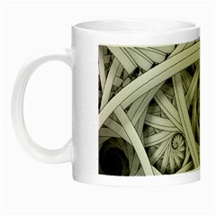 Fractal Wallpaper Black N White Chaos Night Luminous Mugs by Amaryn4rt