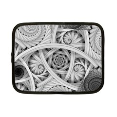 Fractal Wallpaper Black N White Chaos Netbook Case (small)  by Amaryn4rt