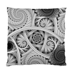 Fractal Wallpaper Black N White Chaos Standard Cushion Case (one Side) by Amaryn4rt